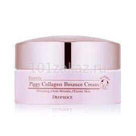Deoproce Piggy Collagen Bounce Cream крем для лица со свиным коллагеном, 100 г