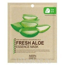 Mijin Fresh Aloe Essence Mask маска для лица с экстрактом алоэ, 1 шт
