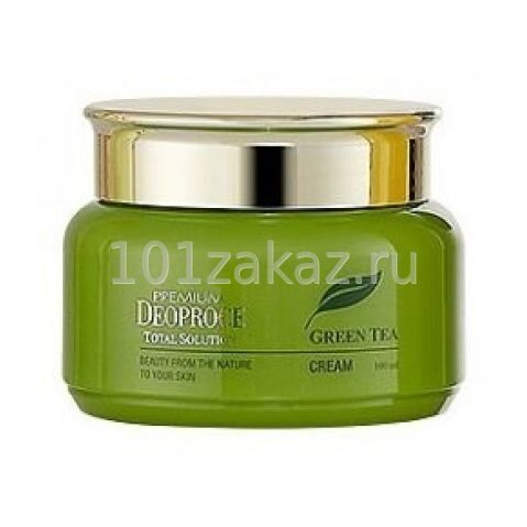 Deoproce Premium Green Tea Total Solution Cream крем для лица с экстрактом зеленого чая, 100 мл