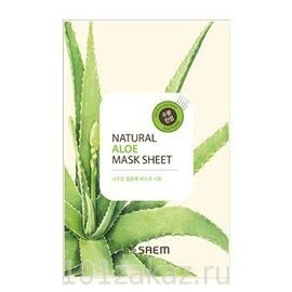 The SAEM Natural Aloe Mask Sheet тканевая маска для лица с экстрактом алоэ, 1 шт