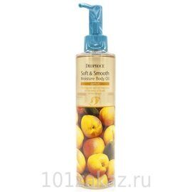 Deoproce Soft & Smooth Moisture Body Oil Apricot увлажняющее масло для тела Абрикос 200 мл