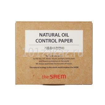 The Saem Natural Oil Control Paper матирующие салфетки для лица, 50 шт