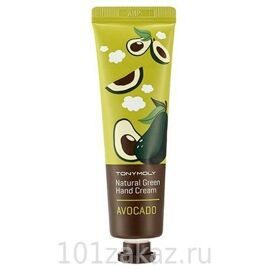 Tony Moly Natural Green Hand Cream Avocado крем для рук с экстрактом авокадо, 30 мл
