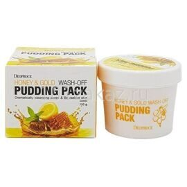 Deoproce Honey & Gold Wash-Off Pudding Pack маска для лица с медом и золотом, 110 г
