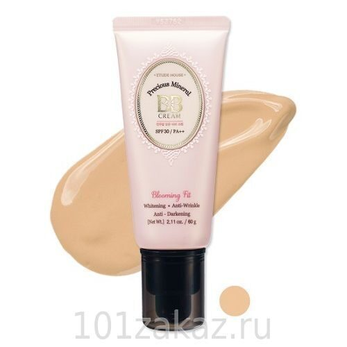 Etude House Precious Mineral BB Cream Blooming Fit SPF30/PA++ N02 Light Beige минеральный BB крем, 60 г