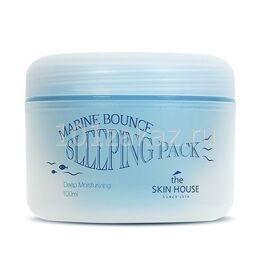 The Skin House Marine Bounce Sleeping Pack ночная маска для лица с морским коллагеном, 100 мл