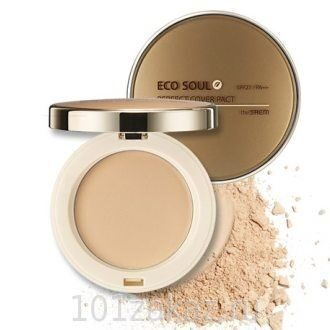 The SAEM Eco Soul Perfect Cover Pact SPF27 PA++ 21 Light Beige пудра компактная, 11 г