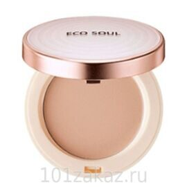 The SAEM Eco Soul UV Sun Pact SPF50+ PA++++ 23 Natural Beige компактная пудра-санскрин, 11 г