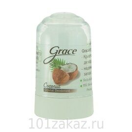 Grace Crystal Deodorant Coconut дезодорант кристаллический Кокосовый, 70 г