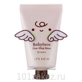 It's Skin Baby Face One-Step Base Green база под макияж светло-зеленая, 35 мл