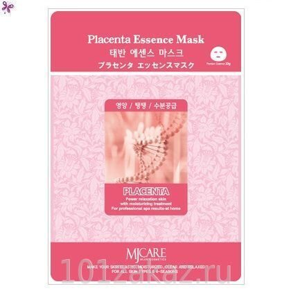 MJ Care Placenta Essence Mask маска для лица с плацентой, 1 шт