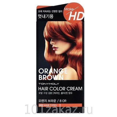 Tony Moly Make HD Hair Color Cream 80R Orange Brown крем-краска для волос