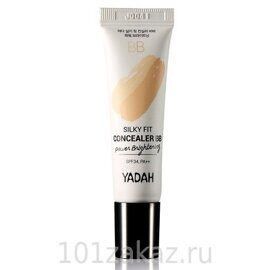Yadah Silky Fit Concealer BB Power Brightening SPF34 PA++ ББ-крем с консилером для осветления кожи, 10 мл