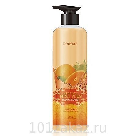 Deoproce Healing Mix & Plus Body Cleanser Lime Citrus гель для душа лайм и апельсин, 750 г