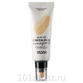 Yadah Silky Fit Concealer BB Power Brightening SPF34 PA++ ББ-крем с консилером для осветления кожи, 35 мл