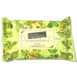 The Face Shop Herb Day Cleansing Tissue очищающие салфетки для лица, 20 шт.