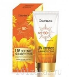 Солнцезащитный крем Deoproce UV Defence Sun Cream SPF 50++ PA++ 70g