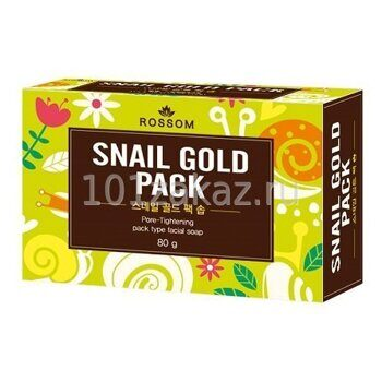 Мыло туалетное со слизью улитки – Mukunghwa Rossom Snail Gold Pack 80g