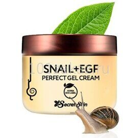 Крем-гель для лица с муцином улитки – Secret Skin Snail+EGF Perfect Gel Cream 50g