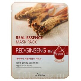 Juno Real Essence Mask Pack Red Ginseng маска для лица с красным женьшенем, 1 шт