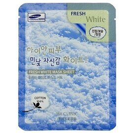 Тканевая маска осветляющая 3W Clinic Fresh White Mask Sheet