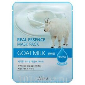 Juno Real Essence Mask Pack Goat Milk маска для лица с экстрактом козьего молока, 1 шт