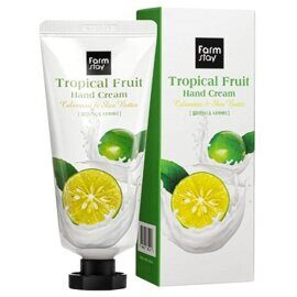 Крем для рук с каламанси и маслом ши – FarmStay Tropical Fruit Hand Cream Calamansi & Shea Butter 50ml