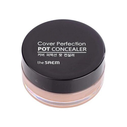 Консилер-корректор The Saem тон 01 / The Saem Cover Perfection Pot Concealer 01 Clear Beige