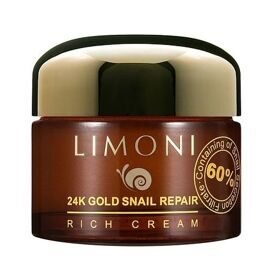 Крем для лица Limoni с золотом и улиткой / Limoni 24K Gold Snail Repair Rich Cream 50ml