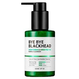 Пенка-маска от черных точек – Some By Mi Bye Bye Blackhead 30 Days Miracle Green Tea Tox Bubble Cleanser 120g