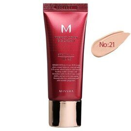 ББ крем тональный — Missha M Perfect Cover BB Cream №21 Light Beige SPF42 PA+++ 20ml