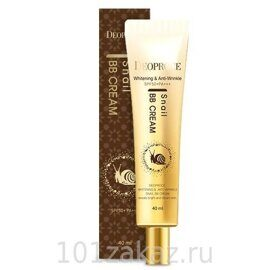 ББ крем с экстрактом улитки. Deoproce Whitening & Anti-Wrinkle Snail BB Cream SPF50+ PA+++ 40ml