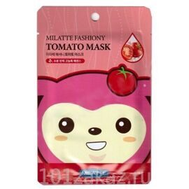 Тканевая маска для лица «Томат» — Milatte Fashiony Tomato Mask Sheet