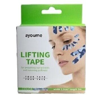 Тейп кинезио для лица камуфляж голубой – Ayoume Kinesiology Tape Roll (2,5 см х 5 м)