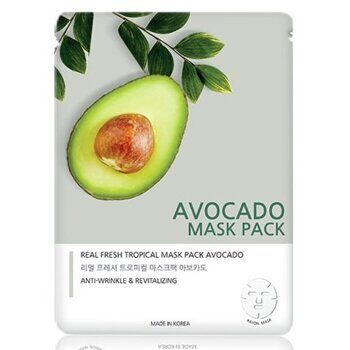 Маска тканевая для лица «Авокадо» — Jungnani Real Fresh Tropical Mask Pack Avocado