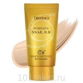 ББ крем восстанавливающий с улиткой – Deoproce Intensive Snail BB SPF50+ PA+++ #23 50ml