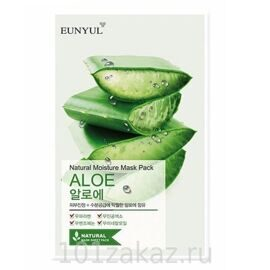 EUNYUL Natural Moisture Mask Pack Aloe тканевая маска для лица с алоэ, 1 шт