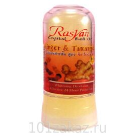 ISME Rasyan Crystal Roll On Ginger & Tamarind дезодорант-кристалл для тела с имбирем и тамарином, 80 г