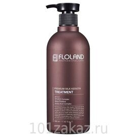 Floland Маска-бальзам восстанавливающая с кератином / Floland Premium Silk Keratin Treatment 530ml