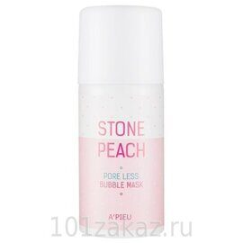 Маска кислородная A'Pieu для очищения пор / A'Pieu Stone Peach Pore Less Bubble Mask 60g