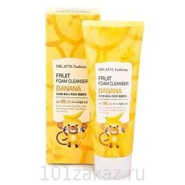 Пенка для умывания «Банан» – Milatte Fashiony Fruit Foam Cleanser Banana 150ml