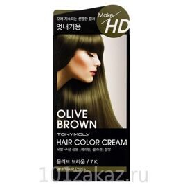 Tony Moly Крем-краска для волос / Tony Moly Make HD Hair Color Cream 7K Olive Brown