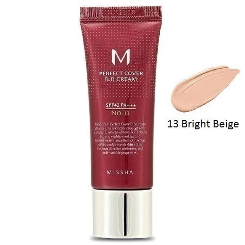 ББ крем тональный — Missha M Perfect Cover BB Cream №13 Bright Beige SPF42 PA+++ 20ml