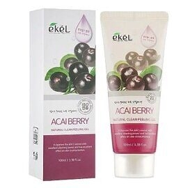 Пилинг-гель для лица «Ягоды Асаи» — Ekel Natural Clean Peeling Gel Acai Berry 100ml
