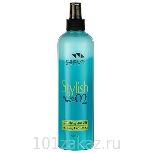 Flor de Man Hair Care System Stylish 02 Silky Shining Two Phase двухфазный флюид для волос, 510 мл