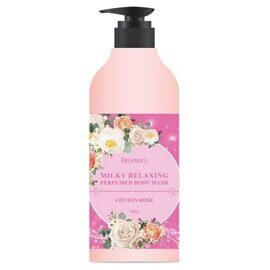 Гель для душа «Хлопок и роза» – Deoproce Milky Relaxing Body Wash Cotton Rose 750g