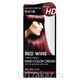 Tony Moly Make HD Hair Color Cream 6W Red Wine крем-краска для волос