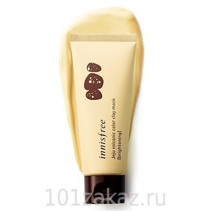 Innisfree Jeju Volcanic Color Clay Mask Brightening Yellow маска с витамином С для сияния кожи, 70 мл