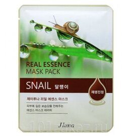 Juno Real Essence Mask Pack Snail маска для лица с экстрактом улитки, 1 шт