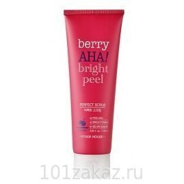 Etude House Berry AHA Bright Peel Perfect Scrub скраб для лица с эффектом пилинга, 120 мл